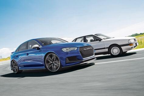 Audi Fünfzylinder: Gestern & Heute