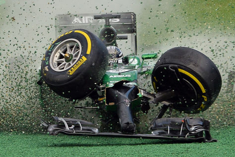 Formel 1: Die spektakulärsten Crashs 2014
