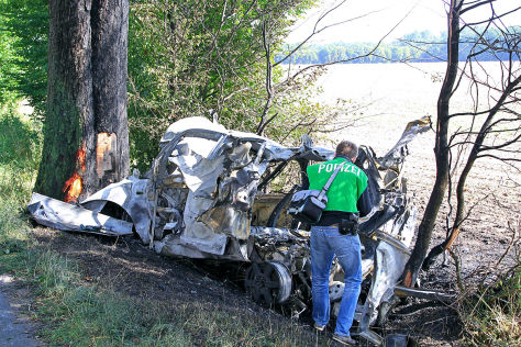 Gas-Auto explodiert im Kreis Segeberg