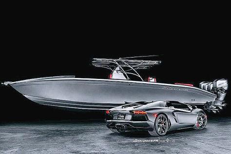 Lamborghini Aventador und Speedboot: Vorteilspack für eine Million Dollar