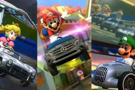 Mario Kart 8 mit Mercedes-Modellen