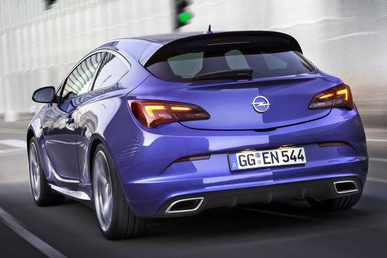 Opel Astra OPC blau Heckansicht