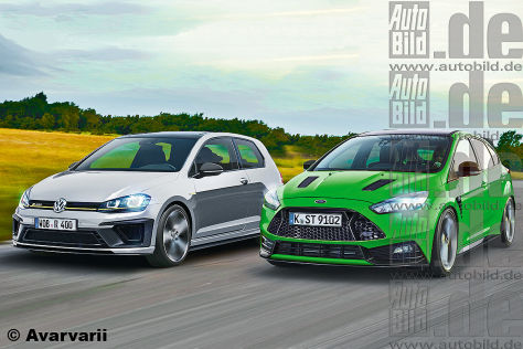 VW Golf R400 Ford Focus RS