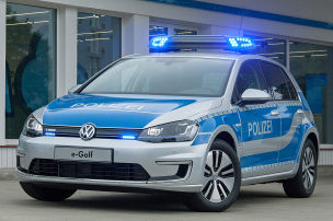 VW e-Golf Polizeiauto: GPEC in Leipzig