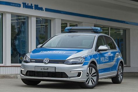 VW e-Golf für Polizei: GPEC in Leipzig
