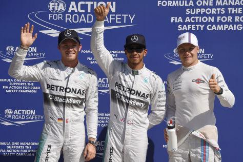 Lewis Hamilton startet beim Grand Prix von Monza von der Pole-Position