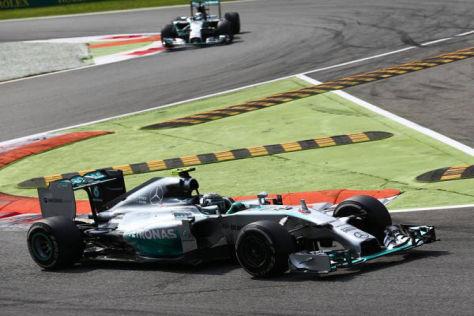Nicht immer fuhr Nico Rosberg in der Schikane diesen Weg