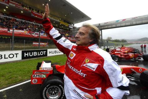 Ein Wink zum Abschied: Ferrari-Präsident Luca di Montezemolo verlässt die Scuderia
