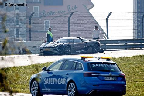Erlkönig Koenigsegg Agera R Crash