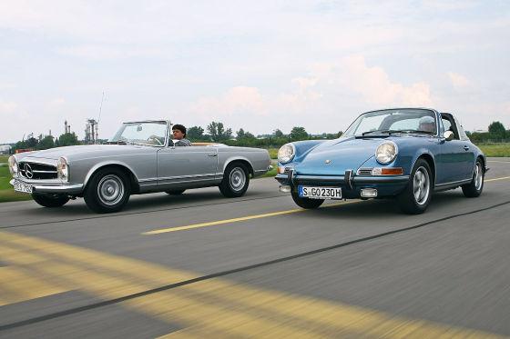 280 SL gegen 911 S Targa
