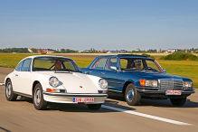 Zweikampf Mercedes gegen Porsche