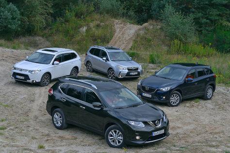 Vier Japan-SUVs im Vergleich