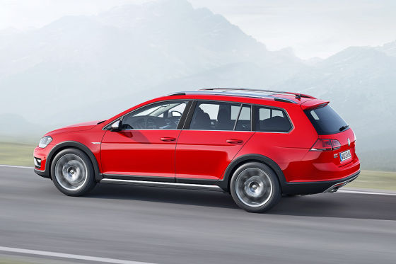 VW Golf VII Alltrack: Autosalon Paris 2014