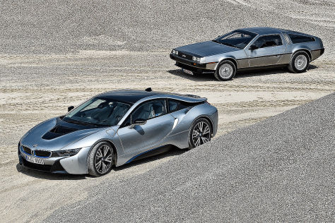 BMW i8 DeLorean DMC-12