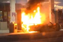 An Tanke ausgebrannt