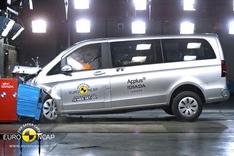 Mercedes V-Klasse Euro NCAP-Crashtest Oktober 2014