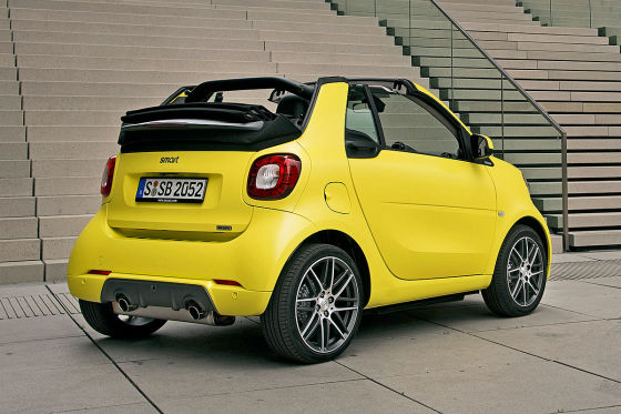 smart brabus fortwo cabrio 2016 fahrbericht. Black Bedroom Furniture Sets. Home Design Ideas