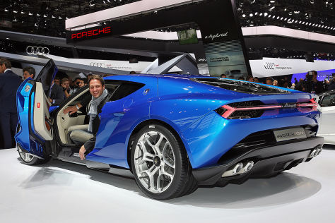 Lamborghini Asterion Autosalon Paris 2014: Sitzprobe