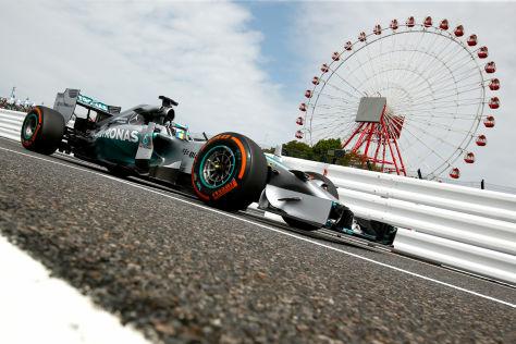 Lewis Hamilton hatte am Nachmittag in Suzuka die Nase vorn
