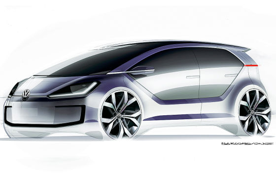 VW Up II Illustration