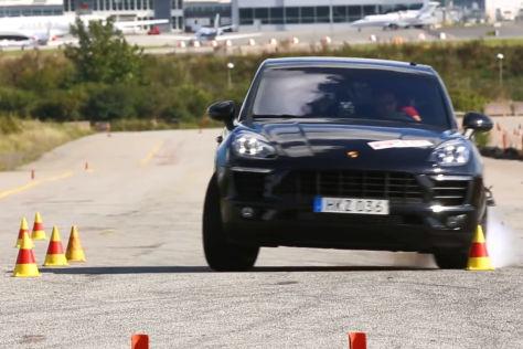 Porsche Macan S Diesel: Elchtest