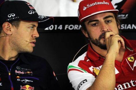 Was tun, Fernando? Vettel und Alonso gelten nicht als die besten Freunde