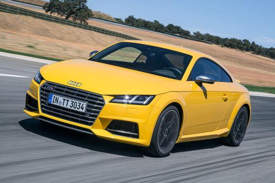 Audi TTS gelb Frontansicht