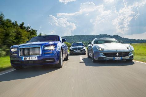 Ferrari/Mercedes/Rolls-Royce: Vergleich