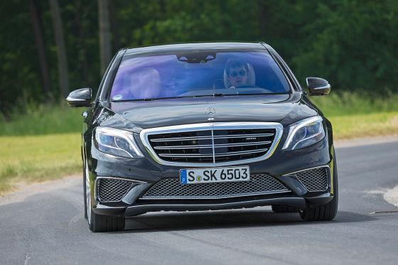 Mercedes S 65 AMG schwarz-metallic Frontansicht