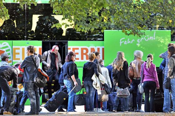 Fernbus als Gewinner des Bahn-Streiks