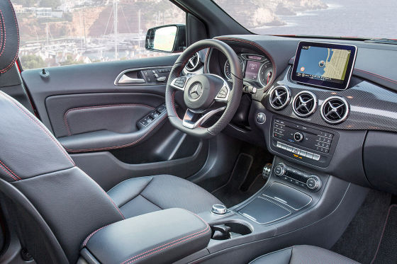 Mercedes B-Klasse Facelift: Cockpit
