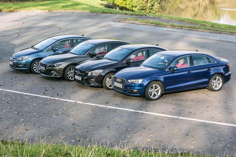 Audi A3 Mercedes CLA Opel Astra Mazda3