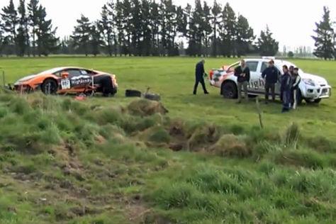 Lamborghini Huracán in Neuseeland gecrasht