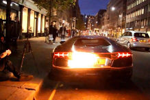 Lamborghini brennt in London