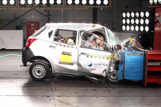 Global NCAP Crashtest: Datsun Go