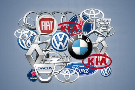 Montage Marken-Logos