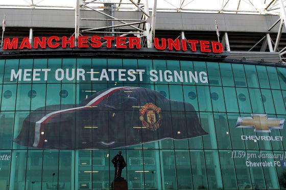 Werbe-Banner von Chevrolet in Manchester