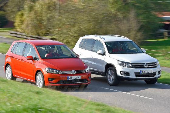 VW Golf Sportsvan VW Tiguan