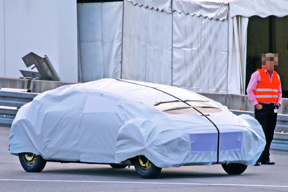 Erlkönig Mercedes Forschungsfahrzeug