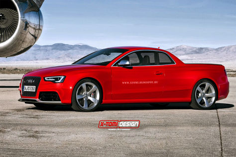 Audi RS 5 Pick-up Illustration