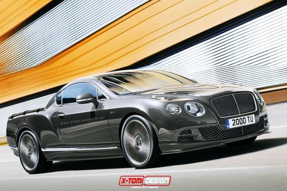 Bentley Continental GT Pick-up Illustration