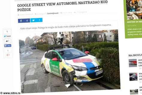 Opel Astra von Google Street View nach Unfall