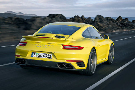 Porsche 911 Turbo Facelift Patentzeichnung