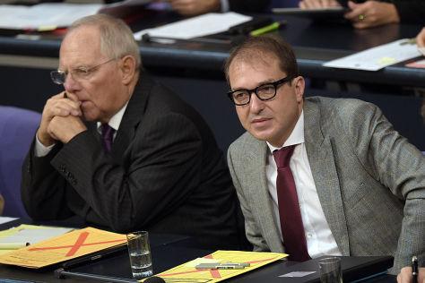 Wolfgang Schäuble (l.) und Alexander Dobrindt