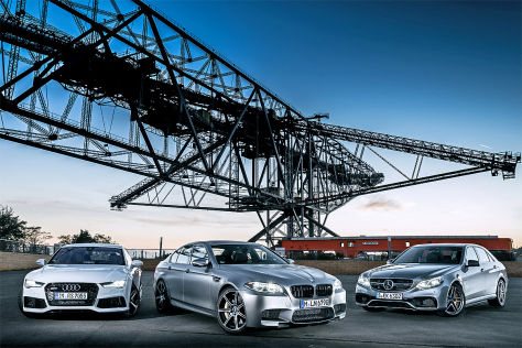 Audi RS7 Sportback MErcedes E63 AMG S BMW M5