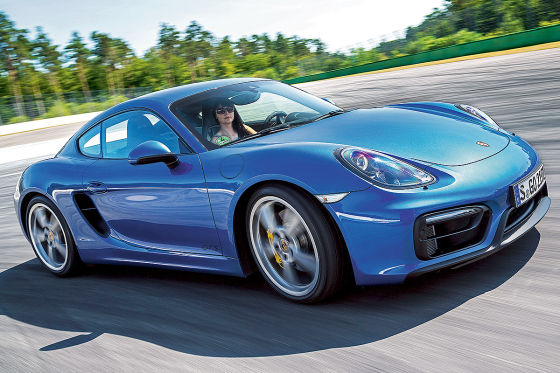 Porsche Cayman GTS blau Seitenansicht