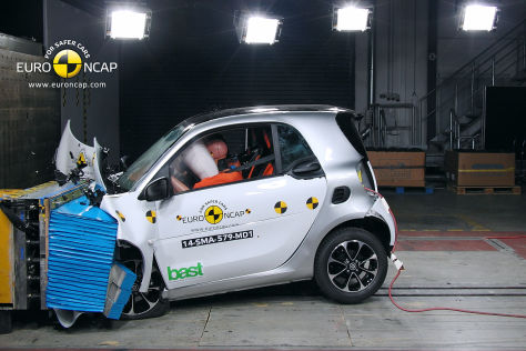 Smart fortwo: Euro NCAP Crashtest 2014