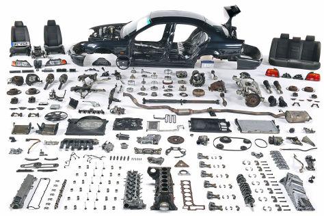BMW 5er, demontiert, AUTO BILD-Test