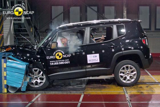 Jeep Renegade Euro NCAP Crashtest Dezember 2014