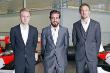 Alonso und Button im Duell